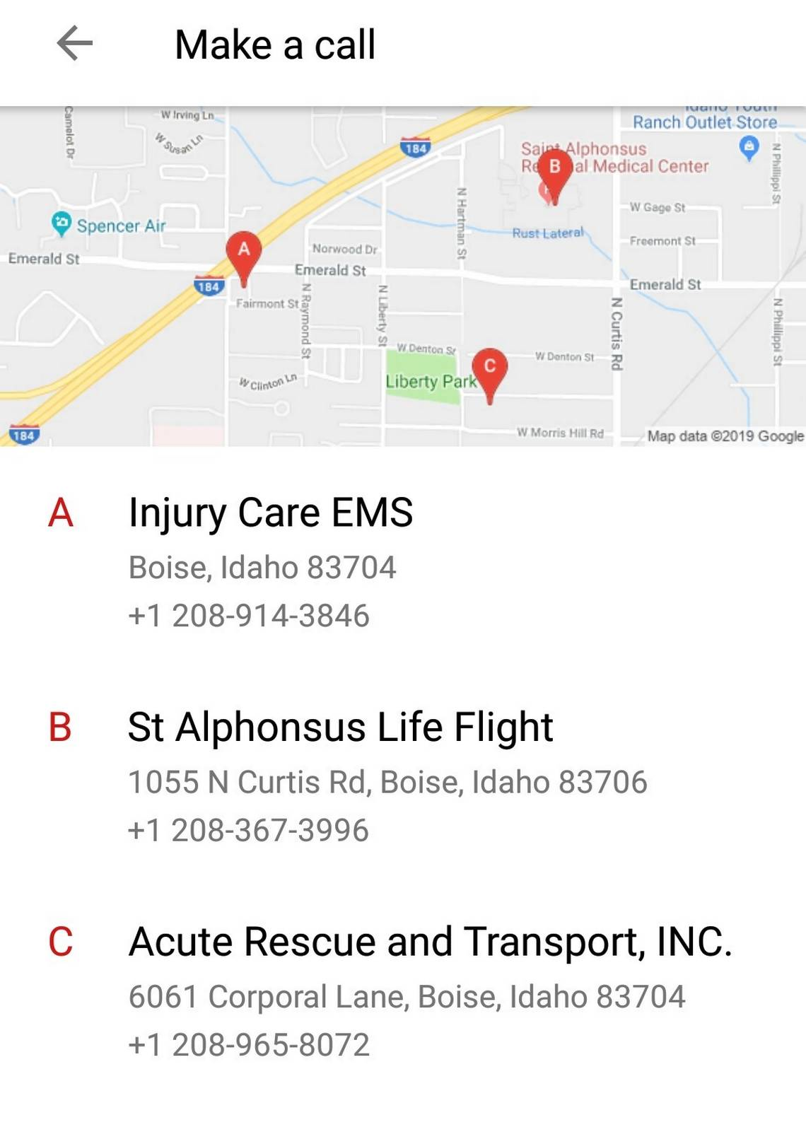 Idahoans are asking Android phones to call an ambulance